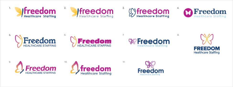 freedom logo options
