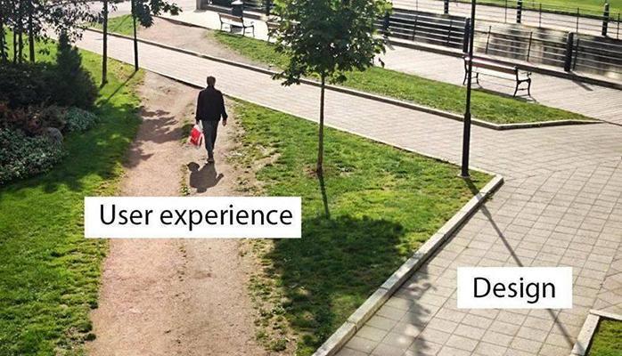 Screenshot of pathway through park