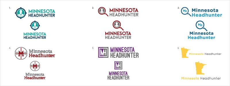 screenshot of mn headhunter logo options