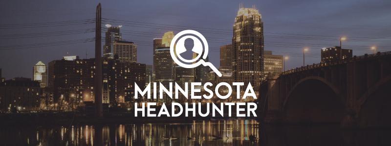 mn headhunter logo over skyline