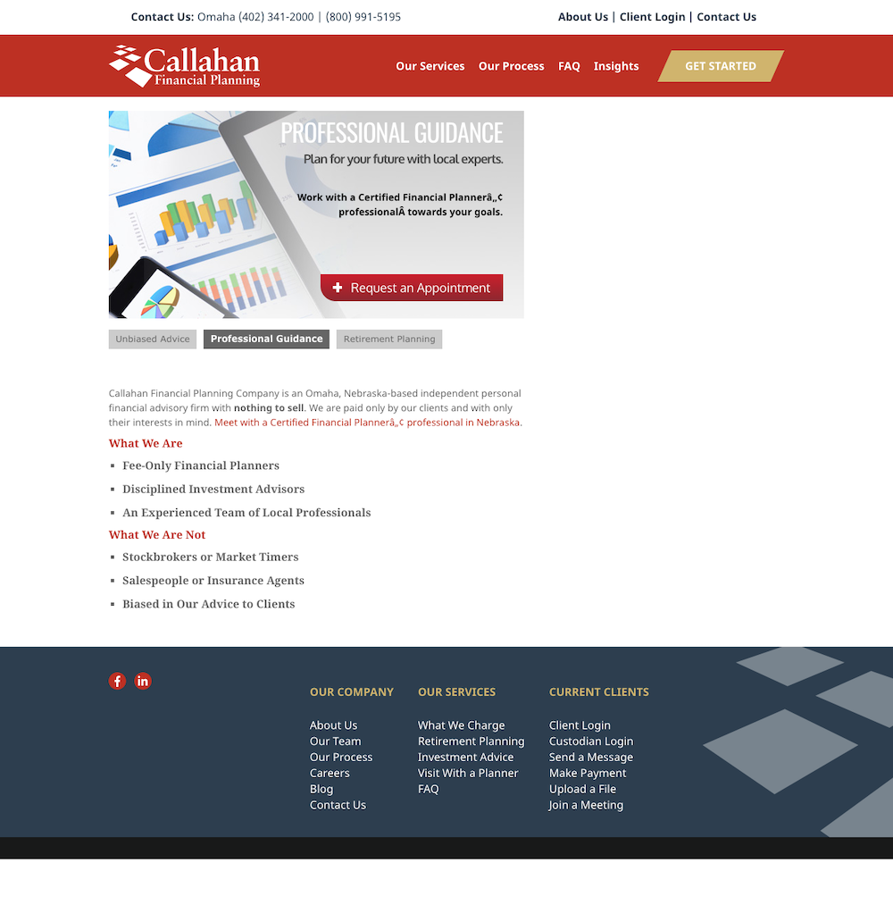 Callahan Financial Planning - hayWire | Web Development